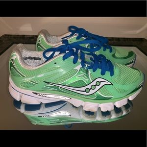 Saucony Women's Lime Green Running Shoes Size 7
